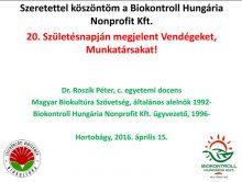 20 éves a Biokontroll Hungária Nonprofit Kft.