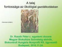 A talaj fontossága az ökológiai gazdálkodásban